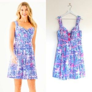 LP Whisper Blue Yeah Buoy Flare Cyndi Dress